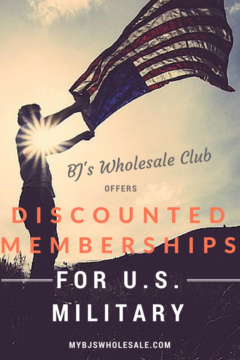 reduced membership for U.s. military at bjs wholesale club