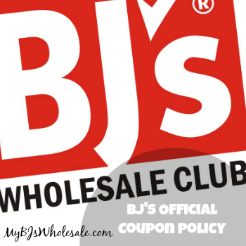 Official BJs Coupon Policy