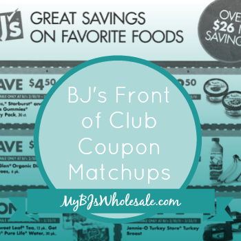 BJs Door Flyer Coupon Matchups Through 7/1/15