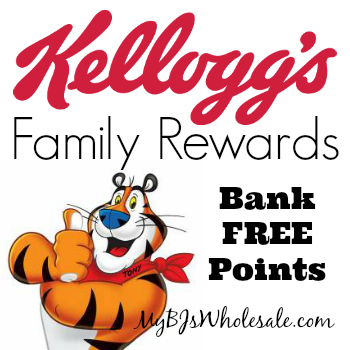 Kellogg's Family Rewards Codes: Bank 125 Points