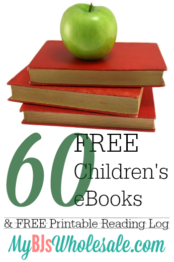 Over 60 Free Children's eBooks + Free Printable Reading Log