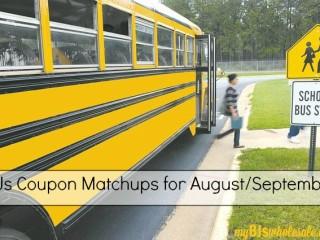 BJs coupon matchups for august/september 2015