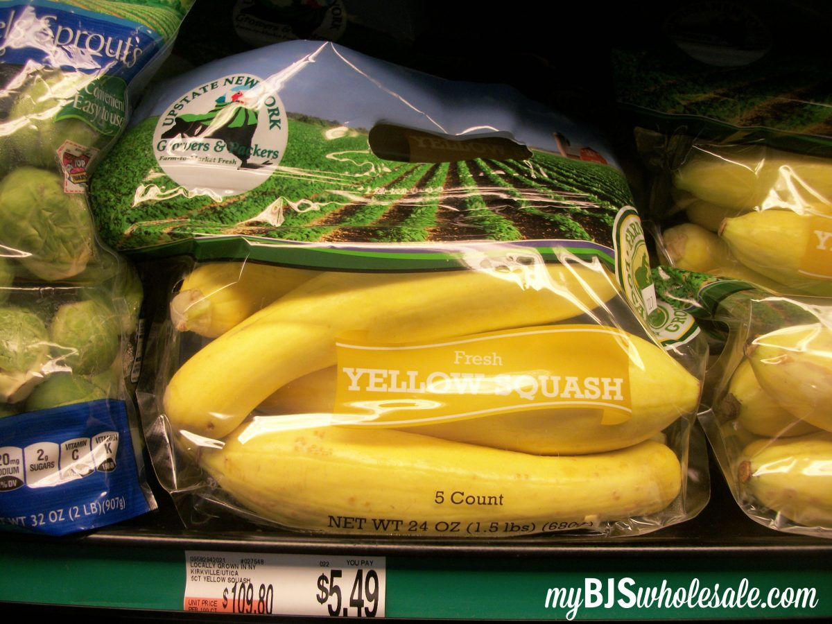 yellow squash local produce bjs