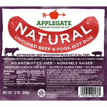 Save $2.25 on Applegate Hot Dogs at BJs