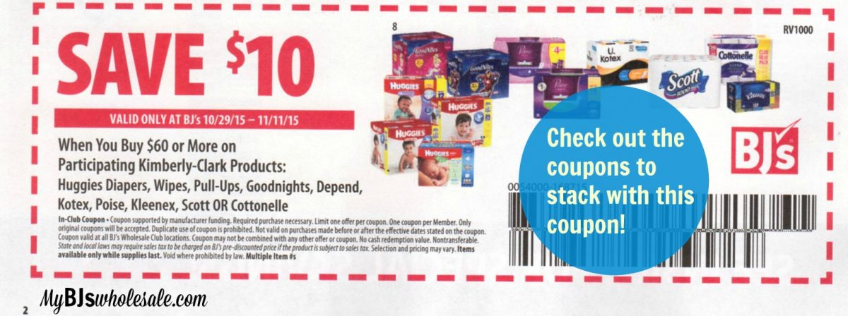 graphic regarding Bjs Printable Coupons called Sizzling* BJs $10 off $60 Coupon Bundle Circumstances