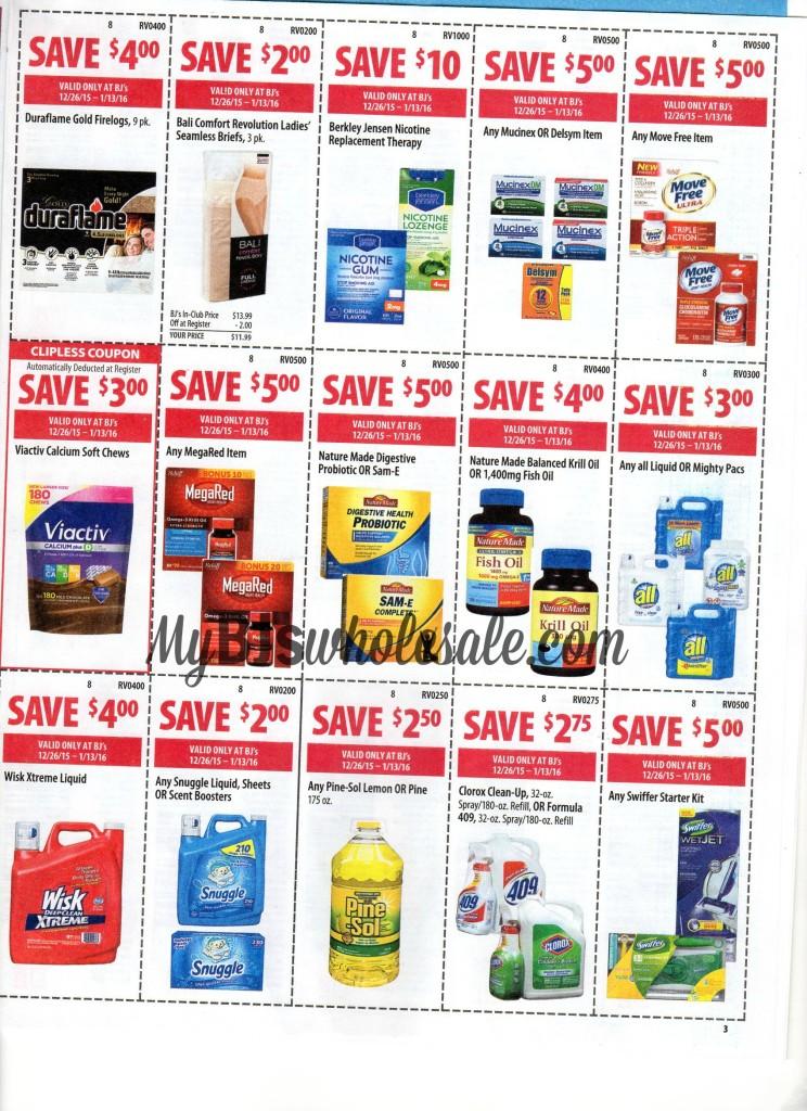 bjs coupon matchups 12/26/15