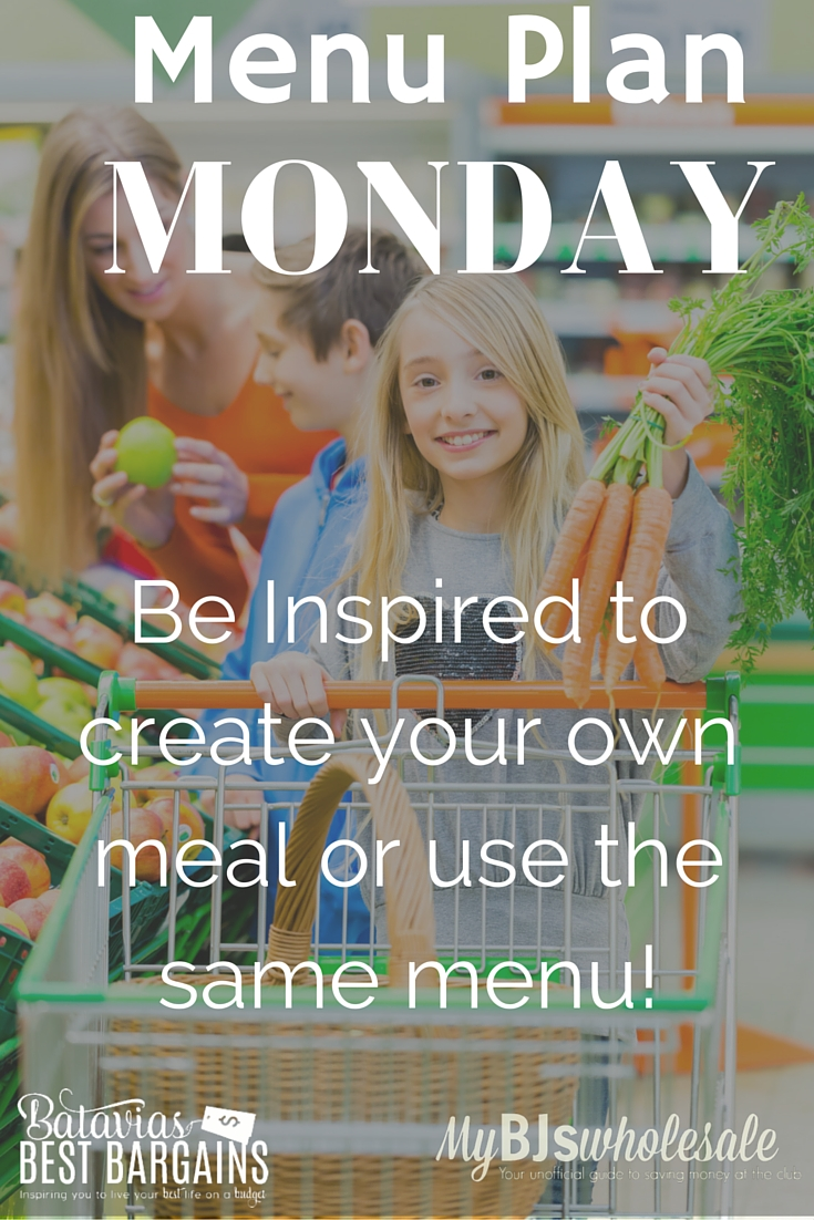 menu plan monday with meal ideas 2016