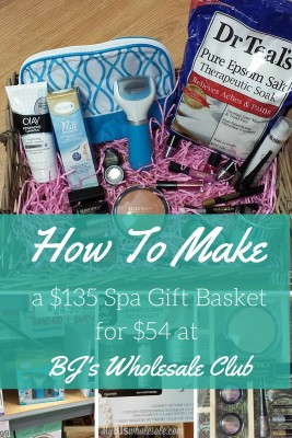 how to make a $135 spa day gift basket for $54 at BJs wholesale club this mothers day