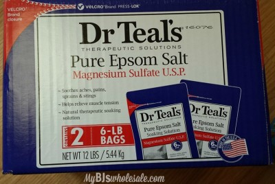 dr. teals epsom salt deal at bjs
