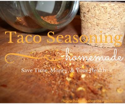 make your own organic taco seasoning