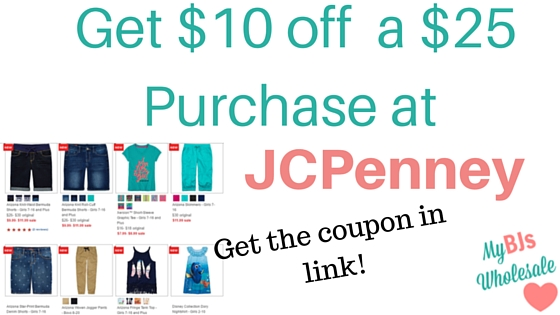 save $1 0on a $25 purchase at JCPenney