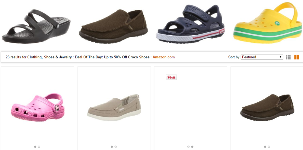 9e1660c60 Amazon  50% off on Crocs for the Whole Family- Today Only
