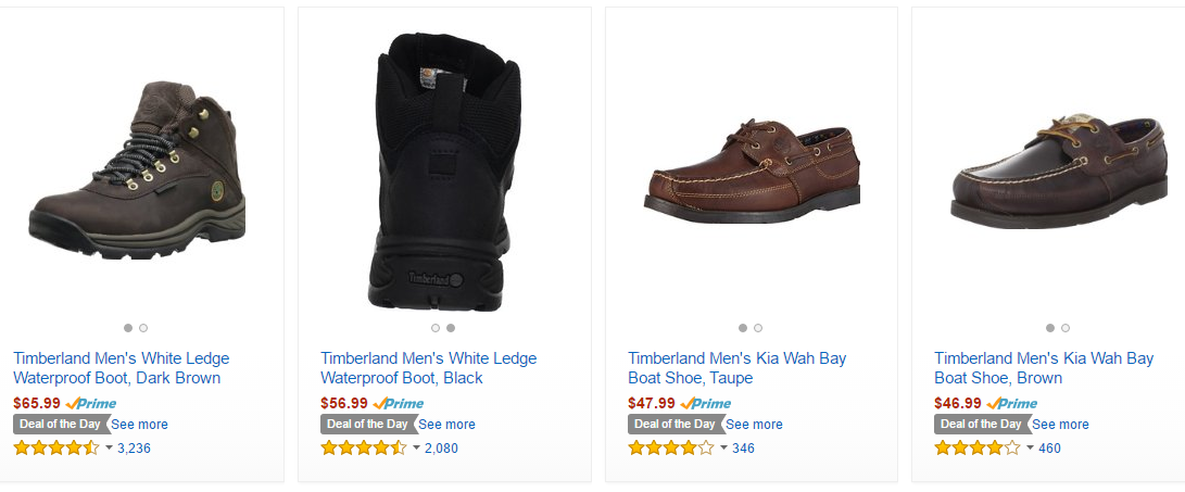 buy sale get new official supplier Up to 50% off Timberland Men's Shoes Today only on Amazon ...