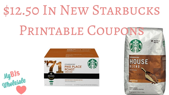 picture relating to Starbucks Printable Coupons referred to as $12.50 within just Contemporary Starbucks Printable Discount codes My BJs Wholesale