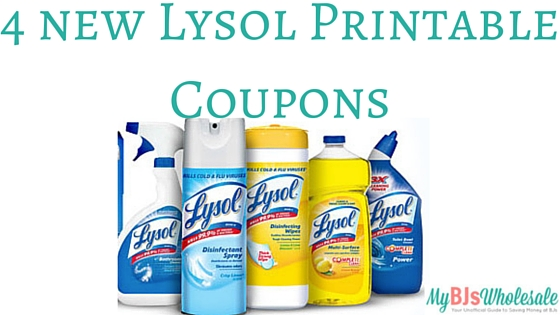 picture relating to Lysol Printable Coupons identified as 4 Refreshing Lysol Printable Coupon codes My BJs Wholesale Club