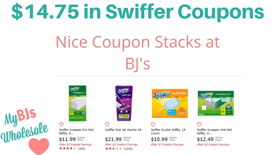 photo relating to Swiffer Coupons Printable identified as $14.75 inside Contemporary Swiffer Printable Discount codes \u003d Good Stacks at BJs
