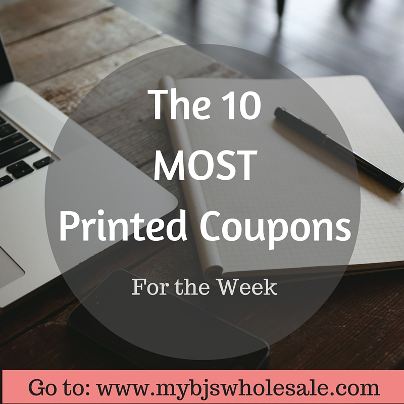 most printed coupons for the week