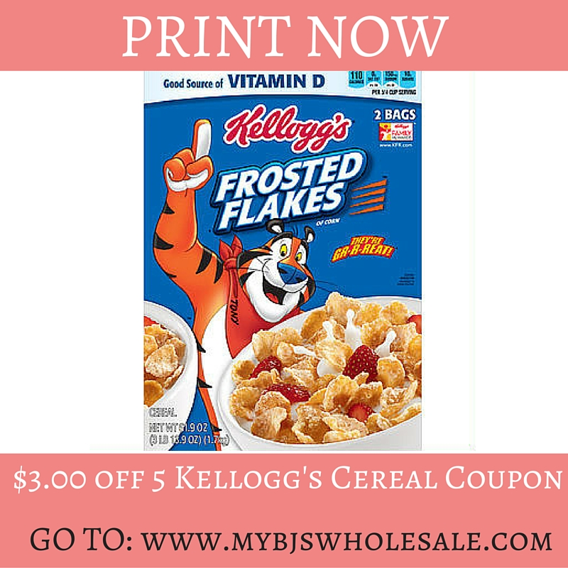 New Edy's, Kellogg's Cereal & More Coupons