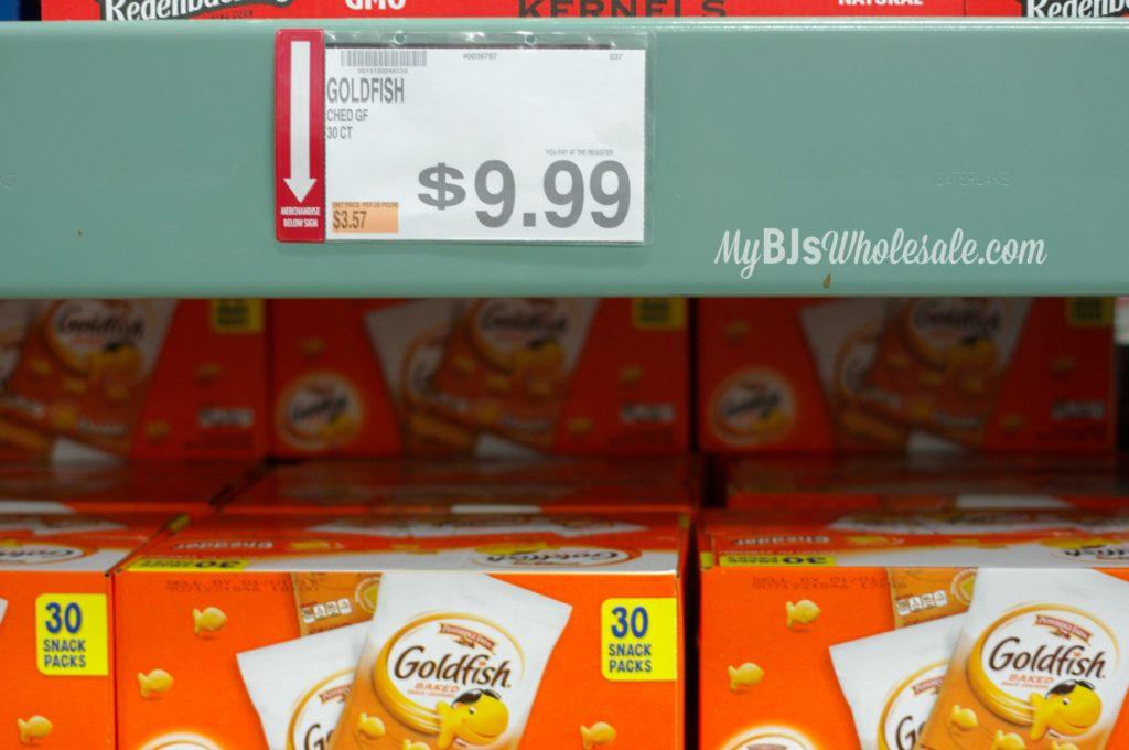 Bjs wholesale club goldfish crackers deal