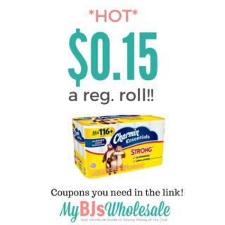 charmin essentials deal at BJs wholesale club