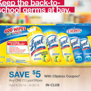 nice lysol wipes deal at BJs Wholesale club