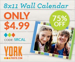 York 8x11 photo calendar only $4.99