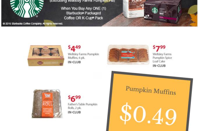 wellsley farms pumpkin muffins starbucks deal