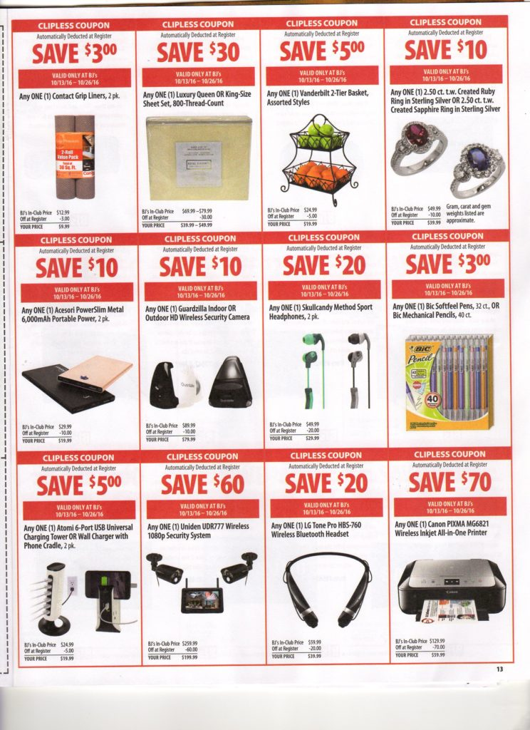 photograph regarding Neilmed $2 Printable Coupons identified as BJs Wholesale Clean Entrance of Club Coupon Matchups for 10/13