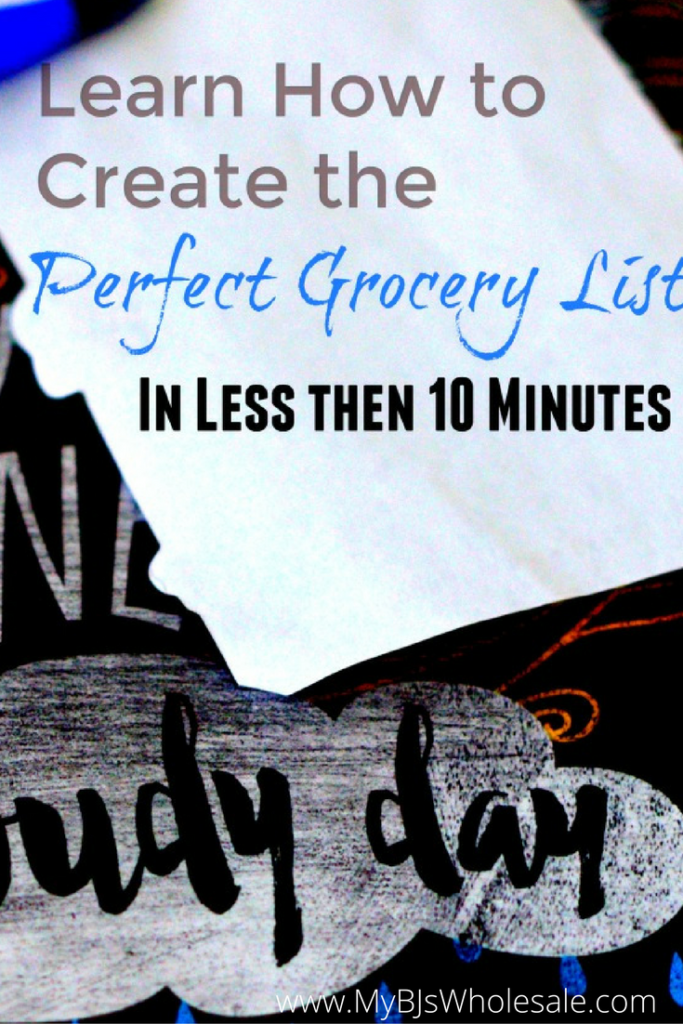 How to create the perfect grocery list