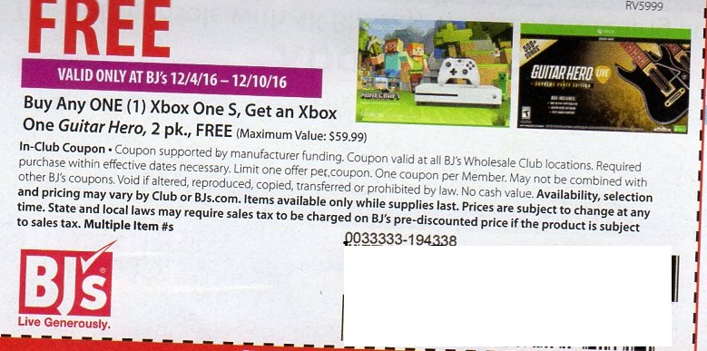 Discounts average $45 off with a Xbox promo code or coupon. 50 Xbox coupons now on RetailMeNot. December sales and deals end soon! Xbox One S, Xbox One S Minecraft Limited Edition 1TB, and refurbished consoles. Other exclusions may apply. including Xbox, in the Best of RetailMeNot emails. Please enter a valid email address.