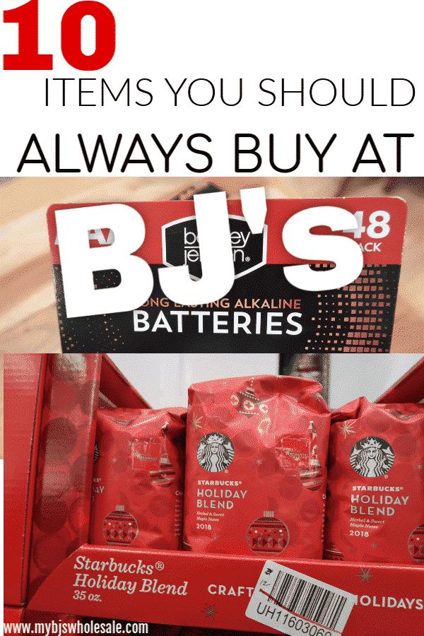 10 items to always buy at BJs wholesale club