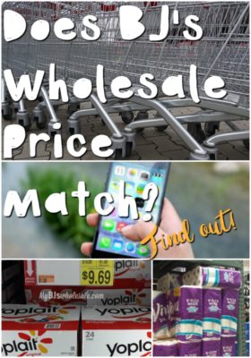 Does BJ's Wholesale Club Price Match