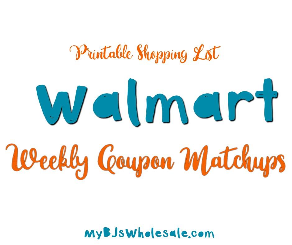 Walmart Weekly Coupon Matchups
