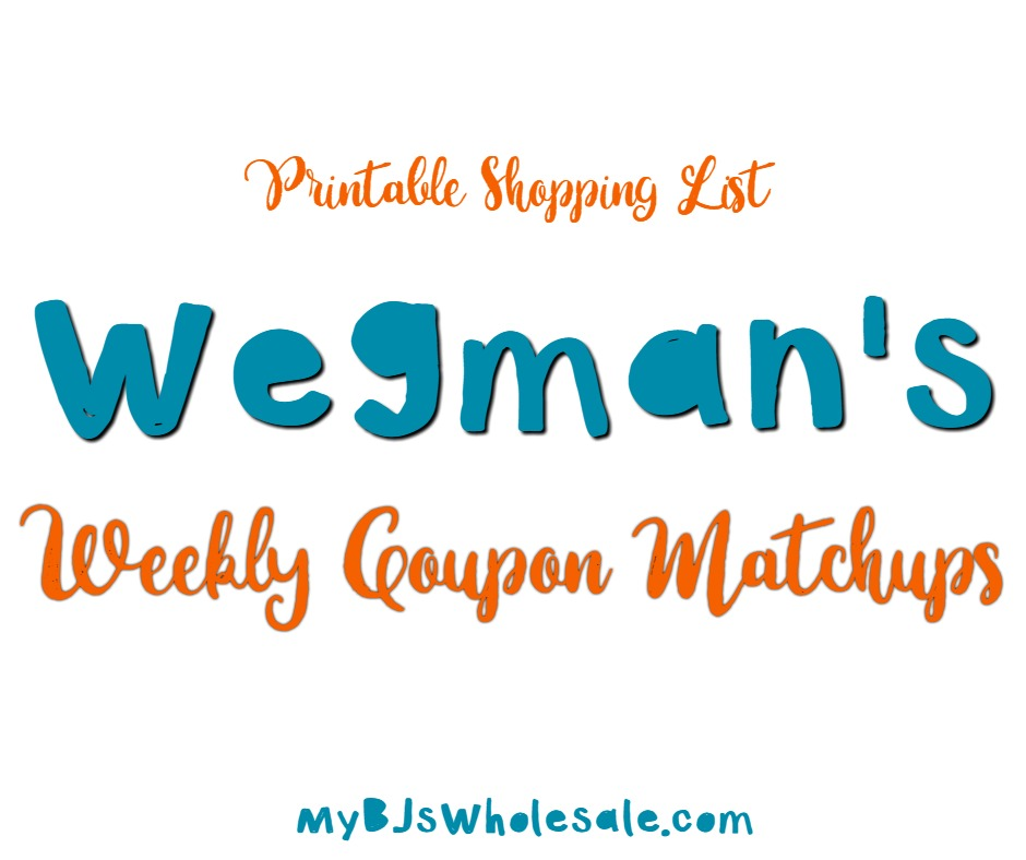 graphic about Wegmans Printable Coupon identify Wegmans Coupon Matchup Discounts - 1/14- 1/21 My BJs