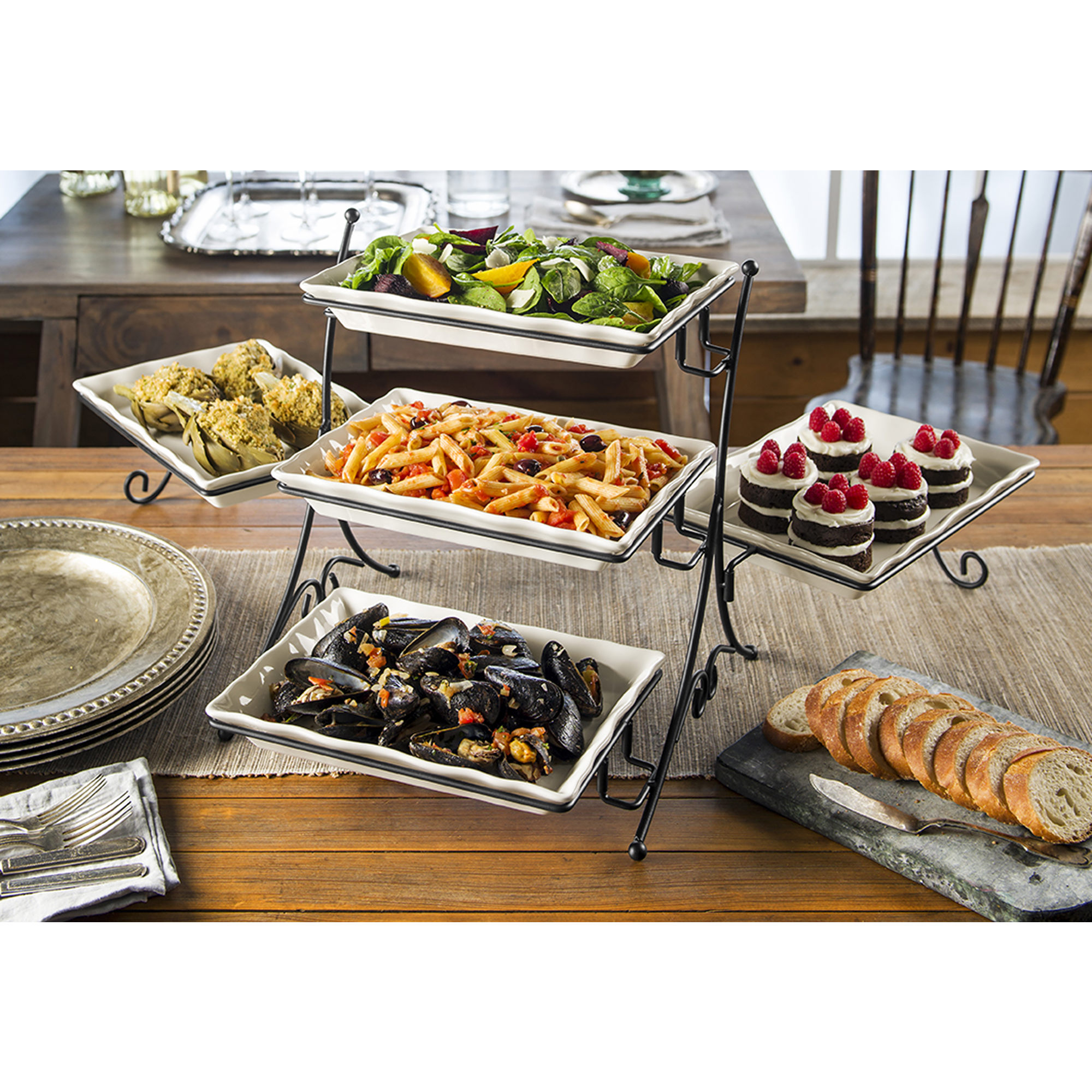 Berkley Jensen 5 Tier Buffet Server Only 14 99 Online