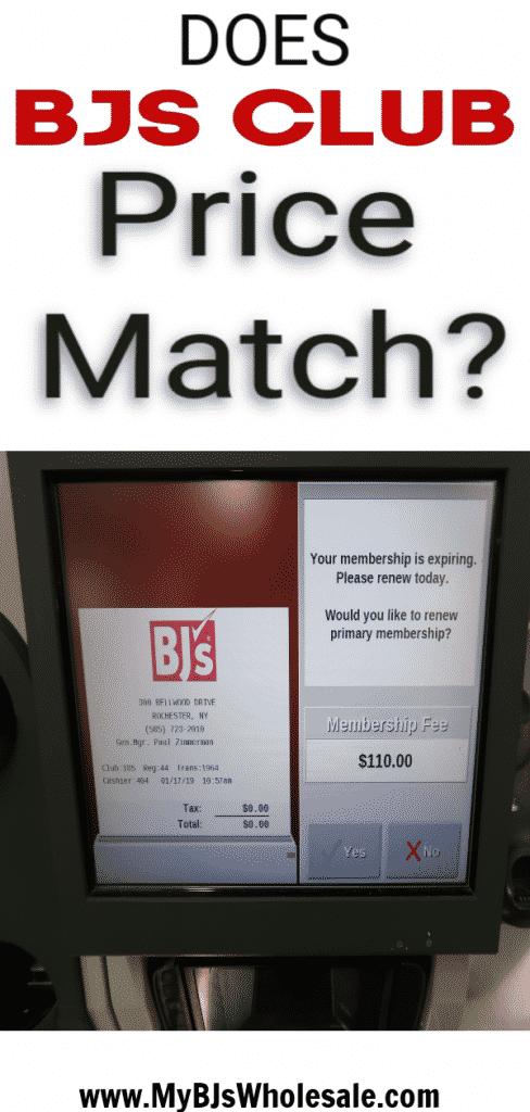 bjs club price match