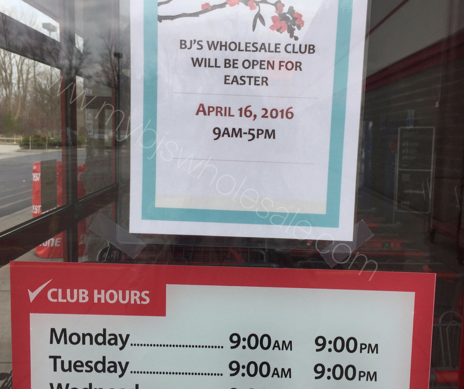 Is BJ's Wholesale Club Open on Easter Sunday this year? | My BJs