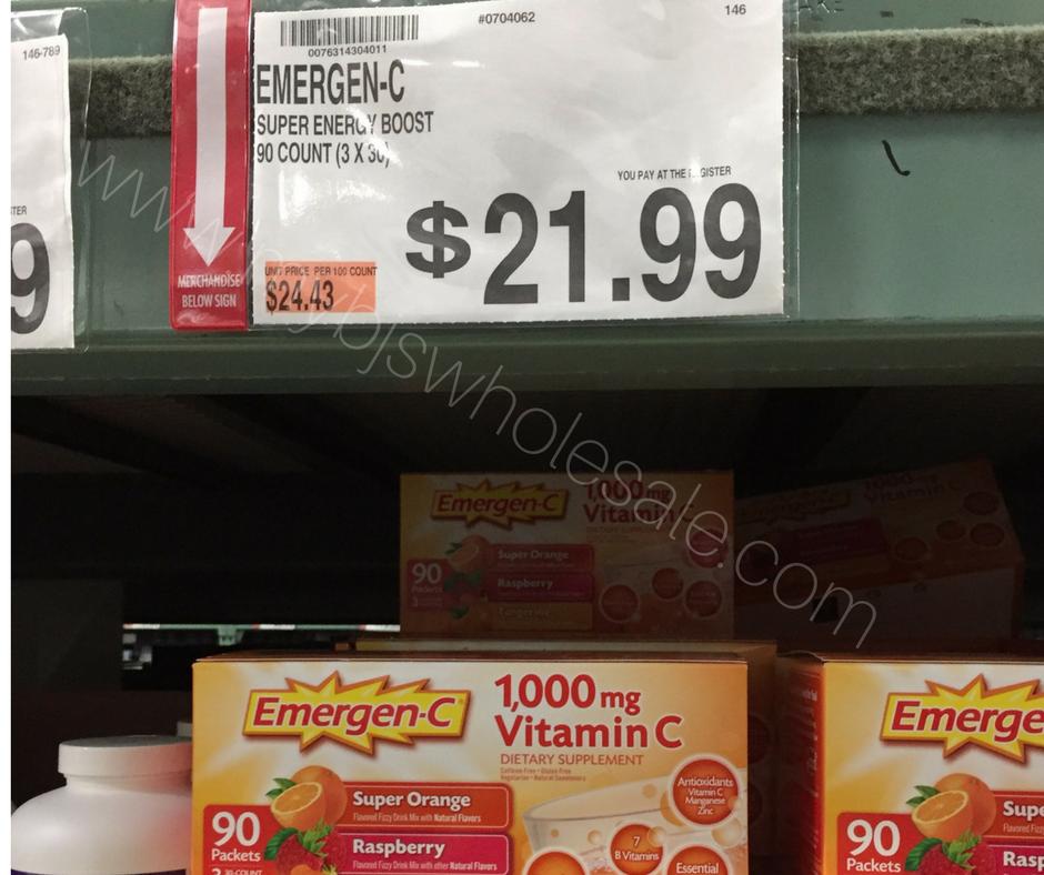 image regarding Emergen C Coupon Printable identify Help save $4 upon Emergen-C at BJs As soon as Coupon Stack My BJs