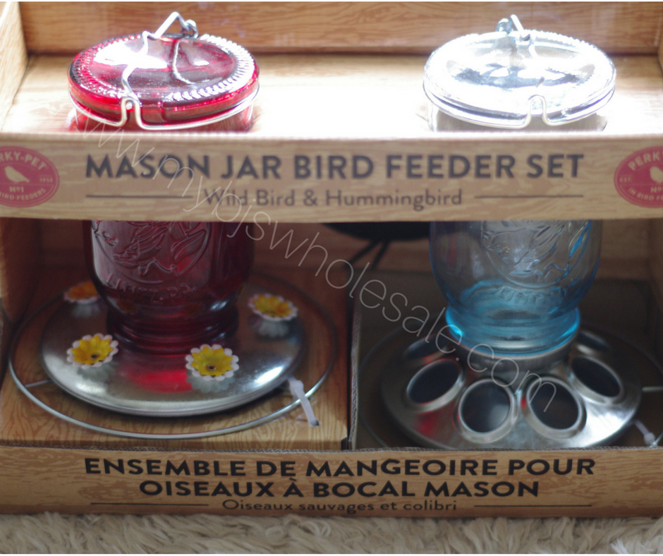 mason jar bird feeders at BJs Wholesale