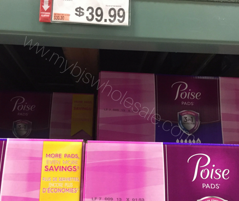 photograph regarding Printable Coupon for Poise Pads known as Poise Pads $17 Coupon Stack Price savings at BJs- 4 Times Remaining