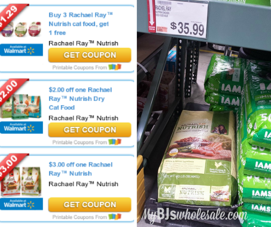 image relating to Printable Rachael Ray Dog Food Coupons identified as $10+ Inside Rachael Ray Discount coupons! My BJs Wholesale Club