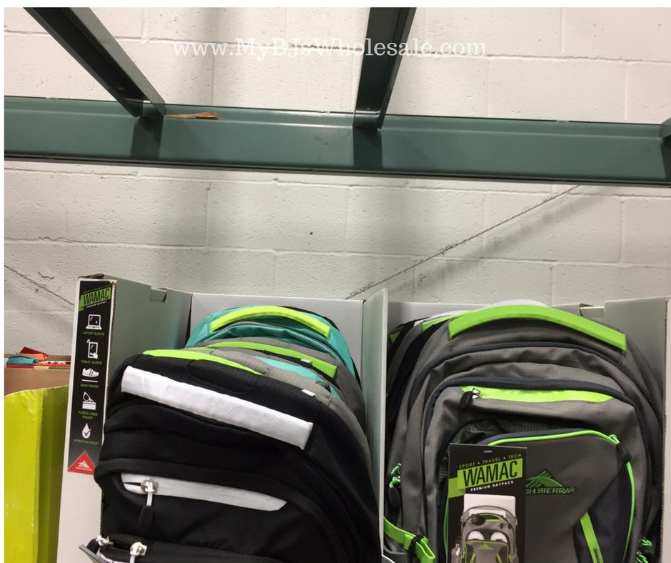 backpacks deal at BJs wholesale club