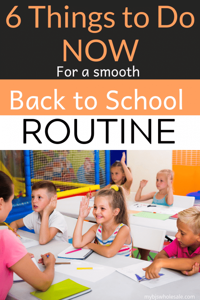 tips for smooth back to school routine