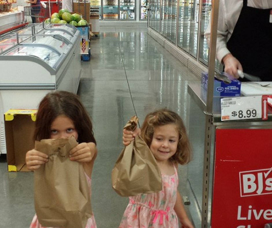 kids free lunch at BJs wholesale club sample
