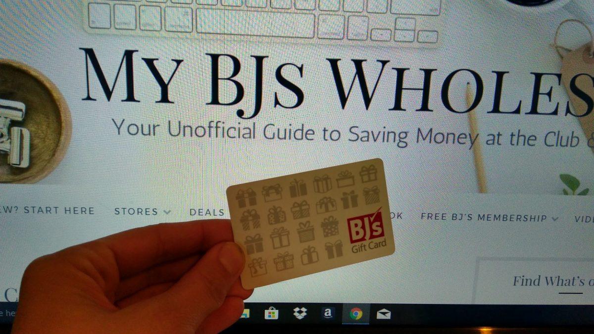 win a $25 BJs gift card mybjswholesale