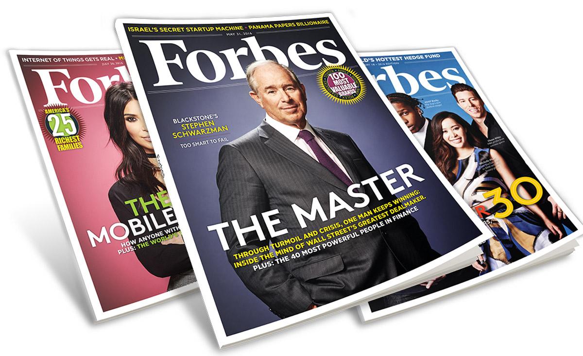 تصنف مجلة فوربس الأشخاص بحسب درجة التواصل الاجتماعي والرأسمالية
