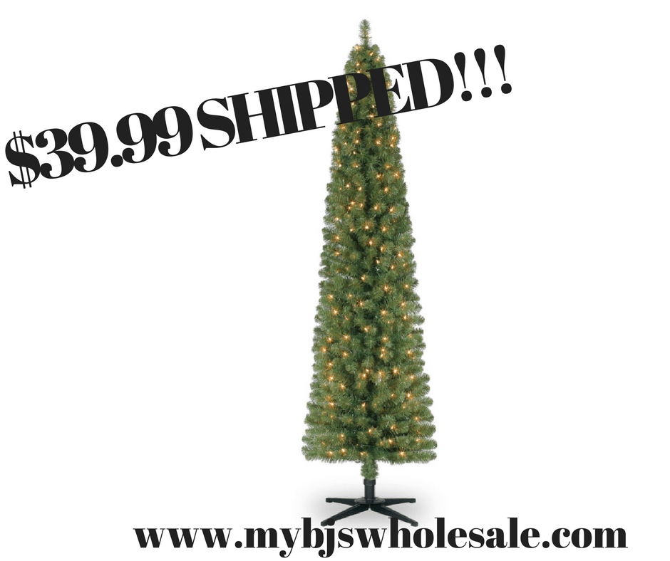 Costco Artificial Christmas Trees: Ashland Pre-Lit 7 Foot Pencil Artificial Christmas Tree