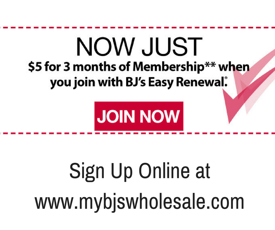 picture regarding Bjs Printable Pass named BJs Subscription 3 Weeks for Simply just $5- Constrained Year My BJs
