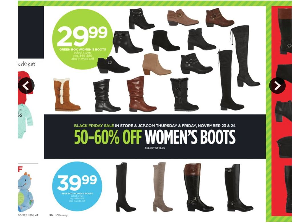 528712d51d389 JCPenney Womens Boots HUGE Black Friday Savings! As Low as  19.99 ...
