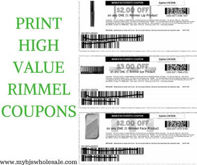 photo about Rimmel Coupons Printable identify Print 3 Fresh new Rimmel Eye, Lip Encounter Coupon codes My BJs